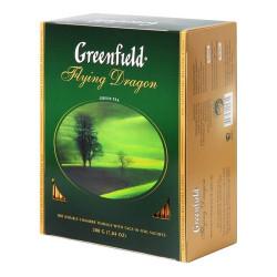 Чай Greenfield Flying Drаgon зеленый байховый пакетированный 100x2г