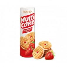 Печенье-сендвич  Roshen Multicake с начинкой клубника-крем 195 г
