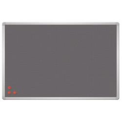 Магнитная доска информационная текстиль/сетка 60x90 см, 2x3, PinMag, серая рама