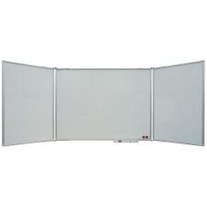 Маркерная доска настенная 100x300 см, 2x3, 5 рабочих поверхностей, лакированная
