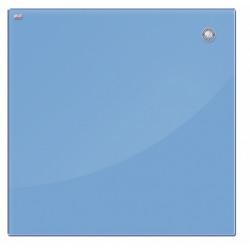 Магнитная доска стеклянная 100x150 см, 2x3, голубая