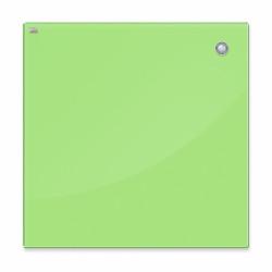 Магнитная доска стеклянная 45x45 см, 2x3, зеленая