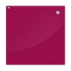 Магнитная доска стеклянная 45x45 см, 2x3, красная