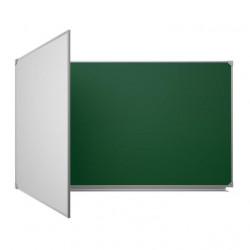 Магнитная доска настенная мел/маркер 100х225 см, Ukrboards, 3 рабочих поверхностей