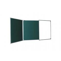 Магнитная доска настенная мел/маркер 100х300 см, Ukrboards, 5 рабочих поверхностей