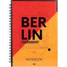 Блокнот Berlin Axent , А5, 96л, клетка