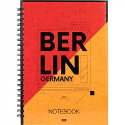 Блокнот Berlin Axent, А5, 96л, клетка