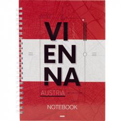 Блокнот Vienna Axent, А5, 96л, клетка
