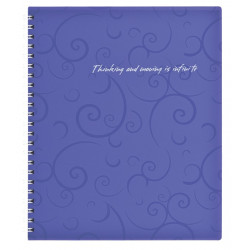 Блокнот Barocco BuroMax, B5, 80л, клетка, фиолетовый
