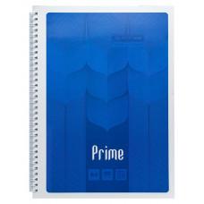 Тетрадь А4 PRIME 96 листов клетка на пружине картонная обложка синяя (BM.24451101-02)