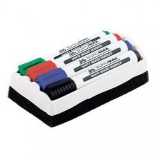 Маркеры для доски + губка Buromax 4 цвета набор (BM.8800-84)